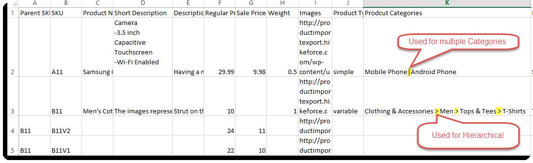 woocommerce sample data csv
