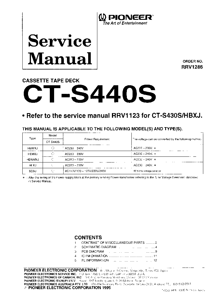 pioneer a401 service manual