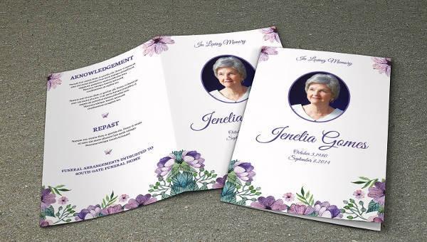 sample obituary program for mother