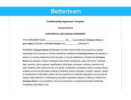 sample confidentiality clause in service agreement