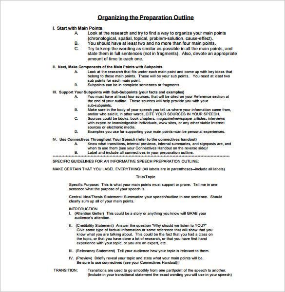 talking points example pdf