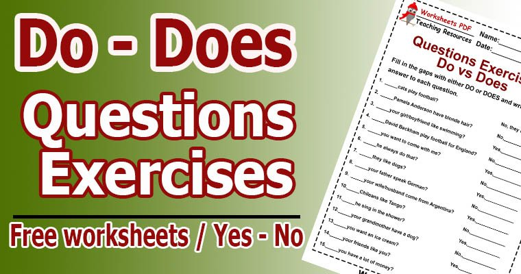 negative questions exercises pdf