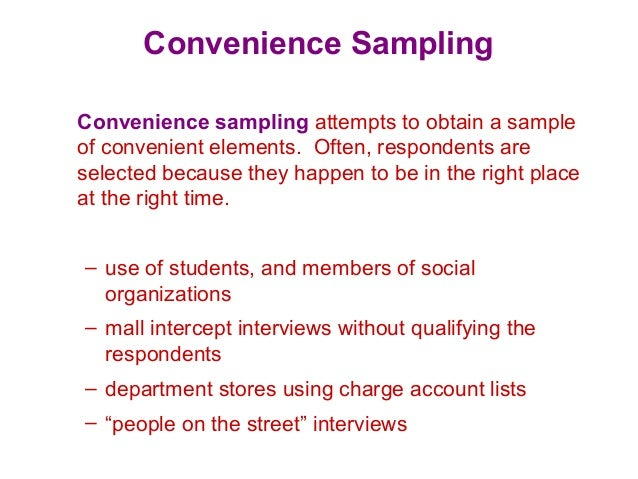qualitative convenience sample