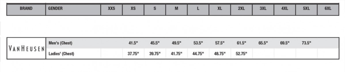 van sizes guide
