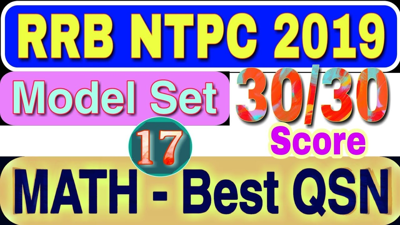 mathematics pdf for rrb ntpc