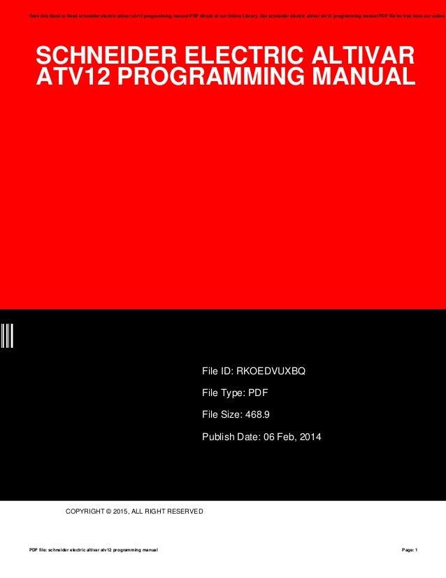schneider atv650 programming manual