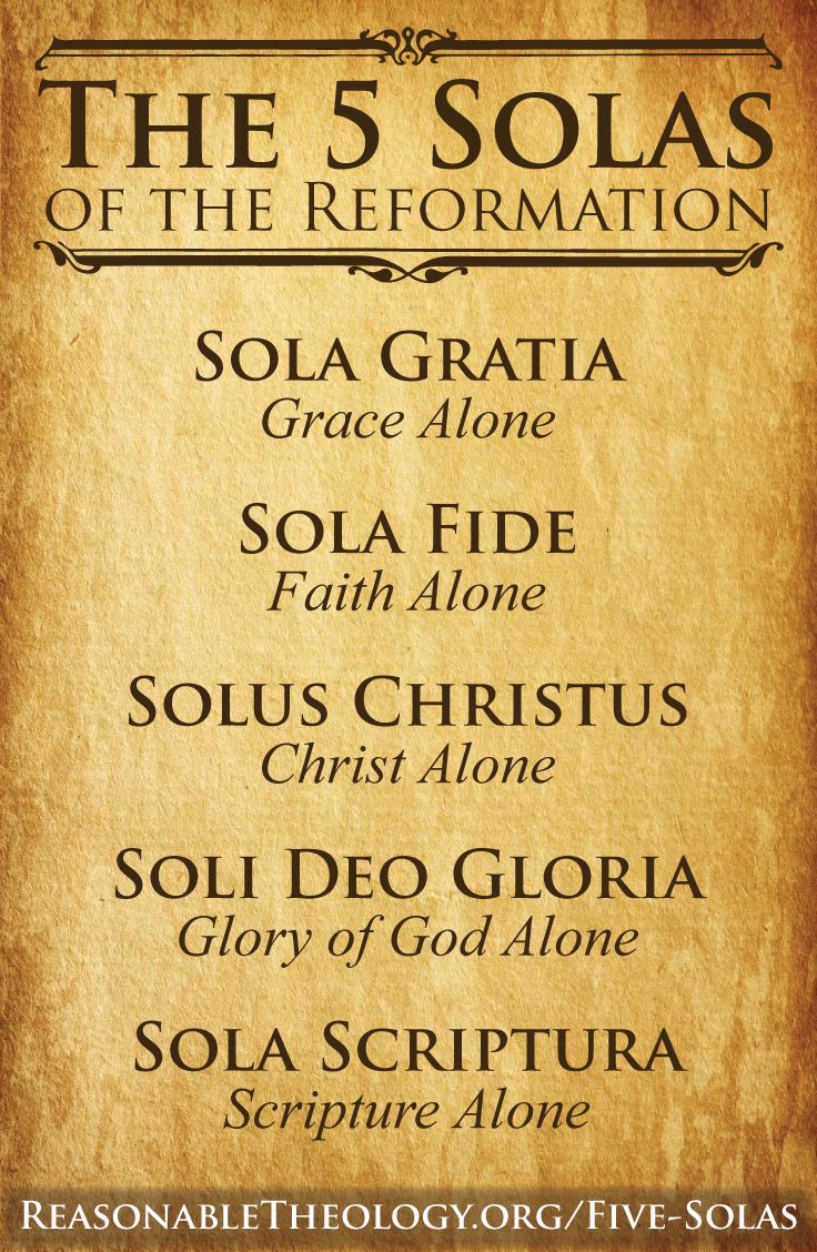 the five solas of the reformation pdf