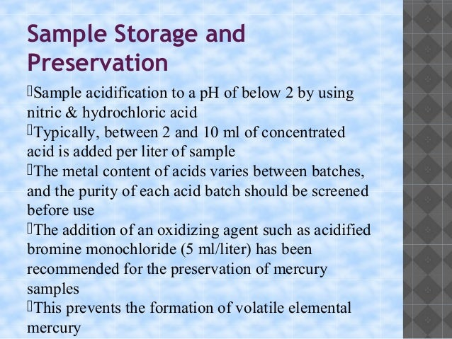 sample preservation and holding times