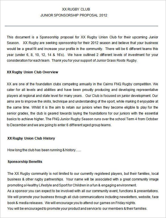 sponsorship proposal pdf