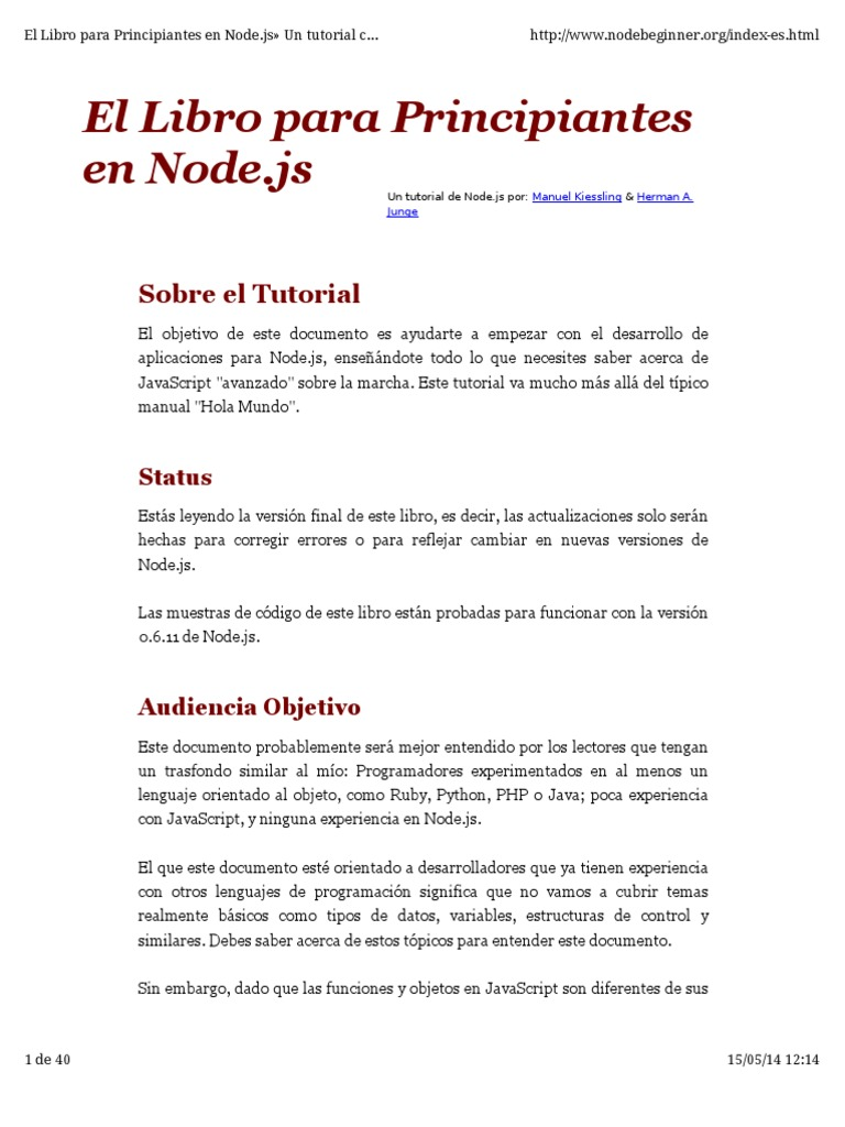 node js tutorial pdf