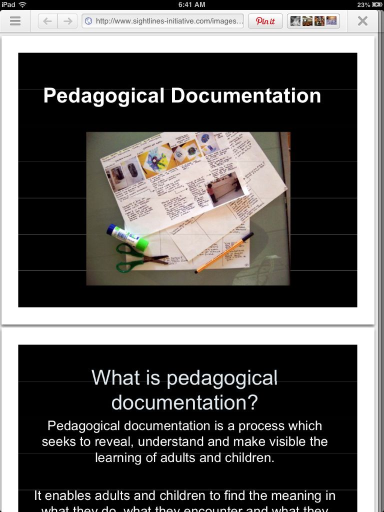 pedagogical documentation ppt