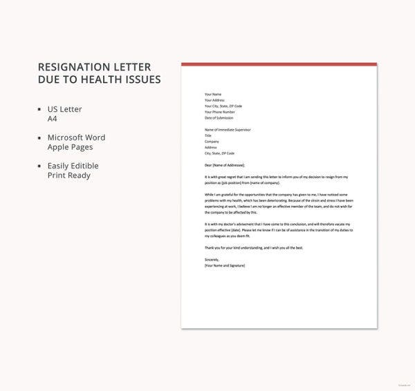 sample of resignation letter due to father illness