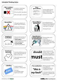 unhelpful thinking styles pdf