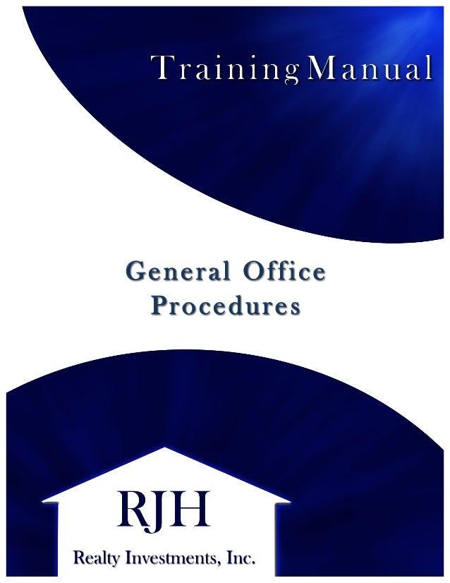 training procedures manual