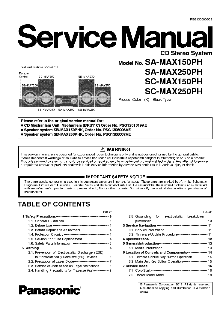 panasonic max 4000 manual
