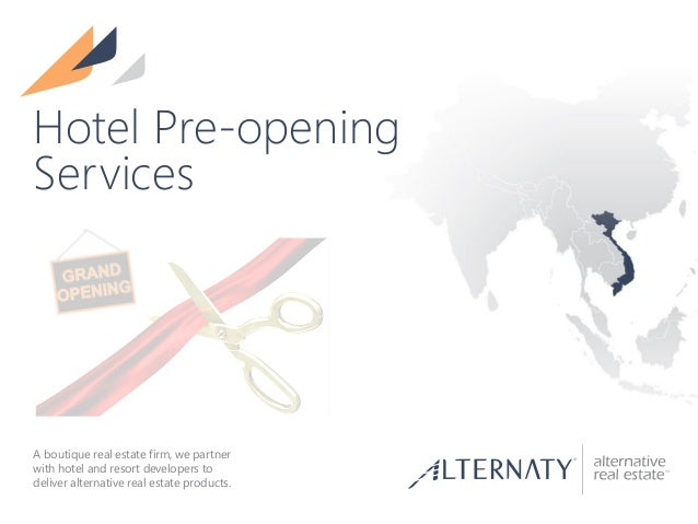pre opening hotel application
