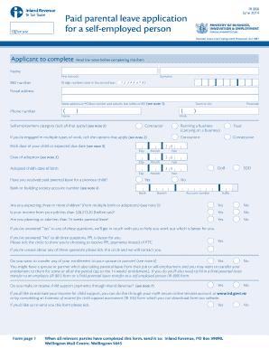 paid parental leave application