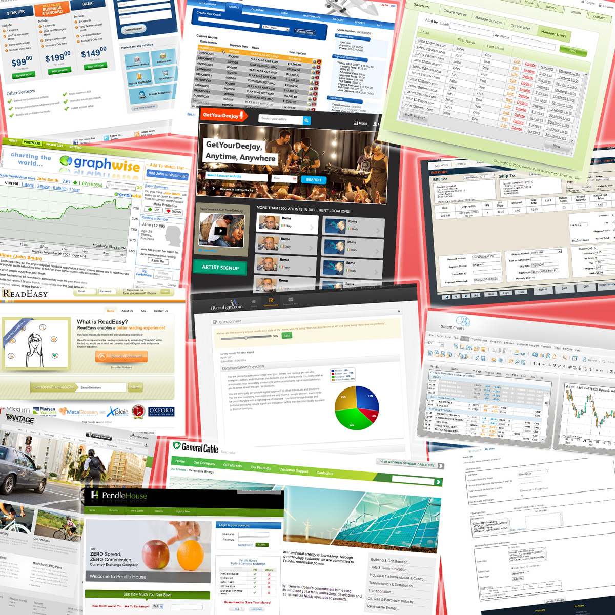 web application software