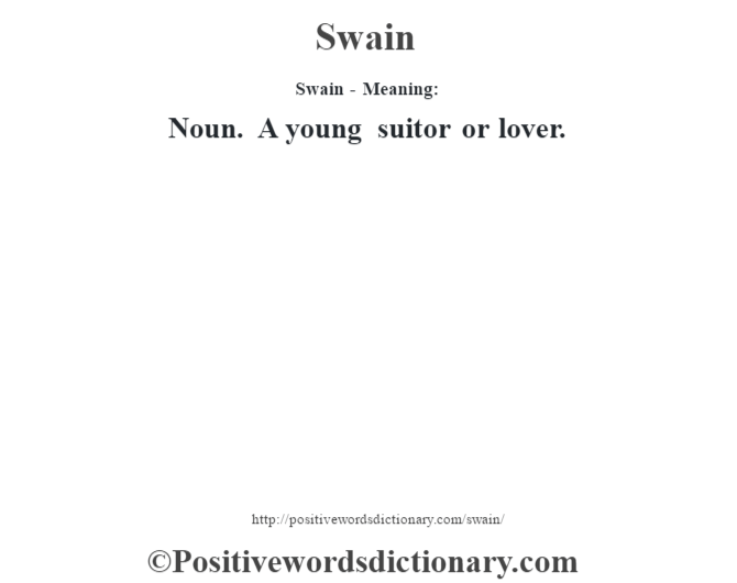 swain definition dictionary