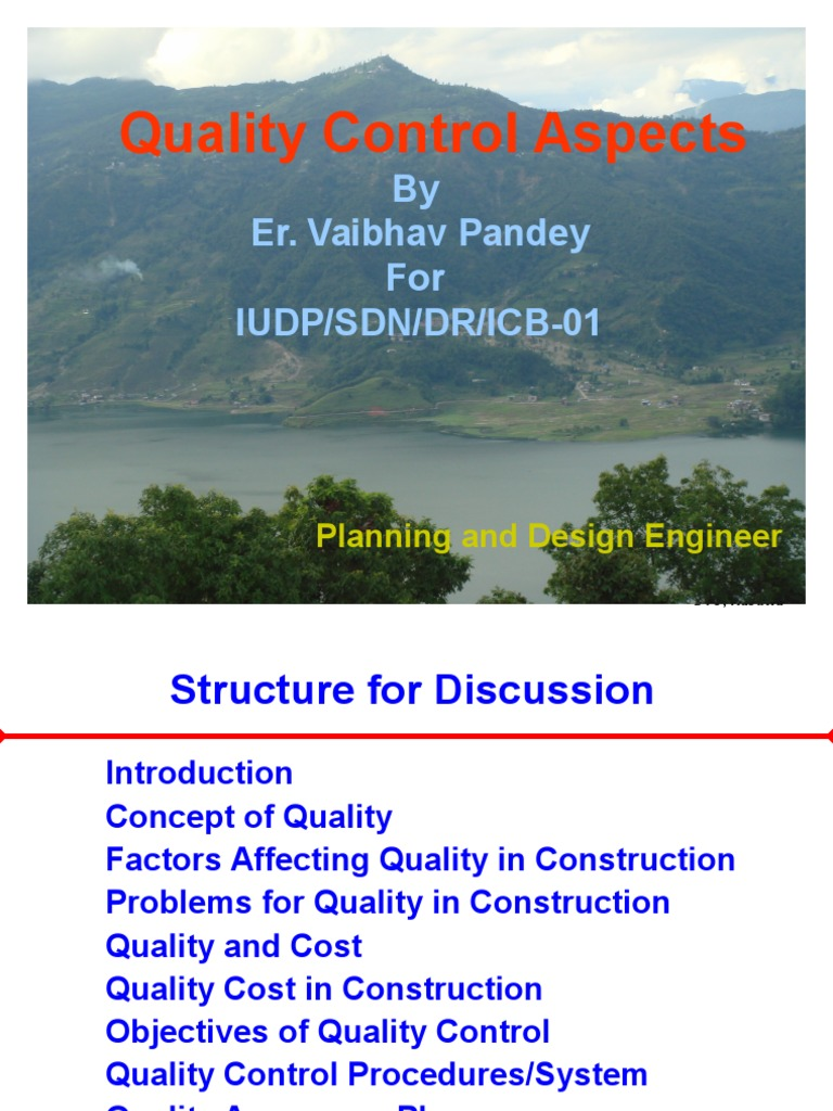 quality assurance manual for civil construction
