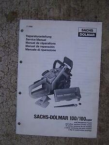 sachs dolmar 119 chainsaw manual