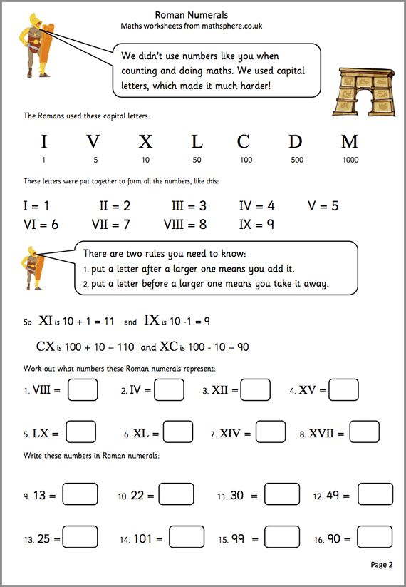 roman numerals worksheet pdf