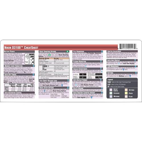 nikon d3100 cheat sheet pdf free