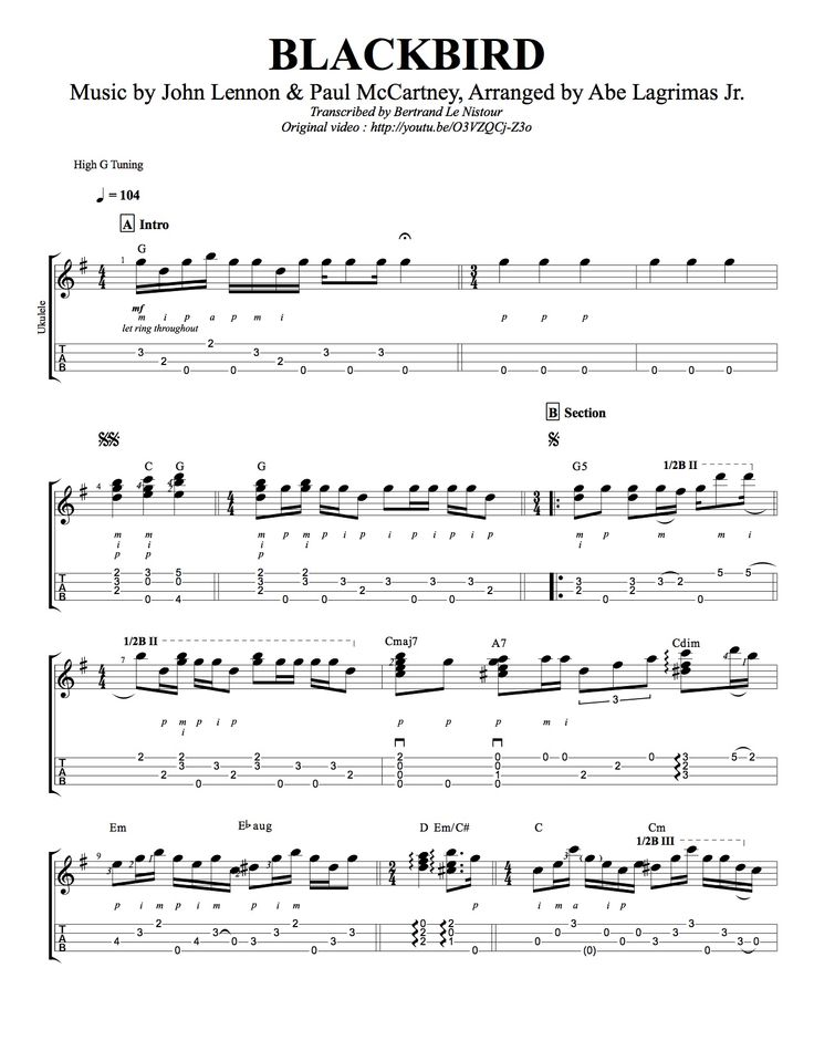ukulele sheet music pdf