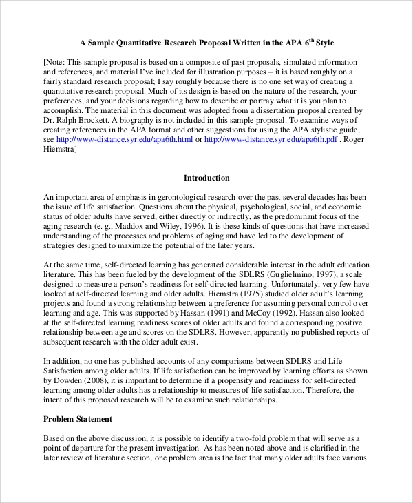 qualitative research proposal sample