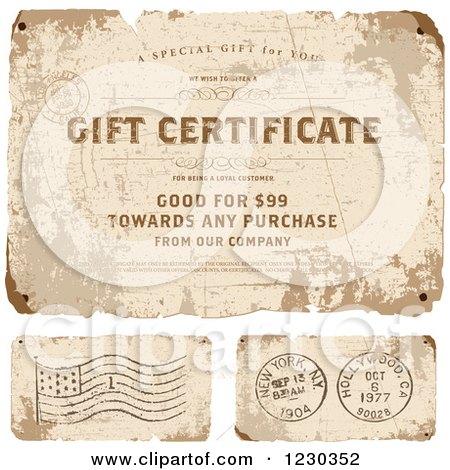 sample gift certificate letter