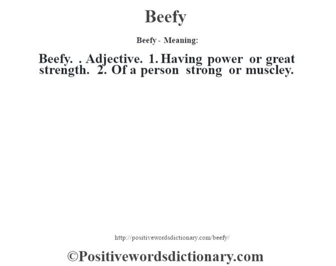strength dictionary