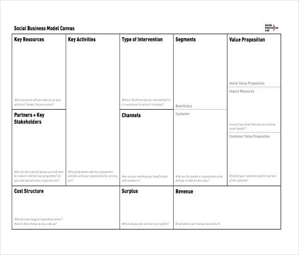 social lean canvas pdf