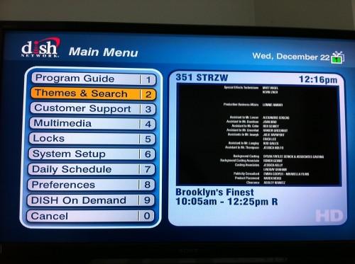 tv guide menu