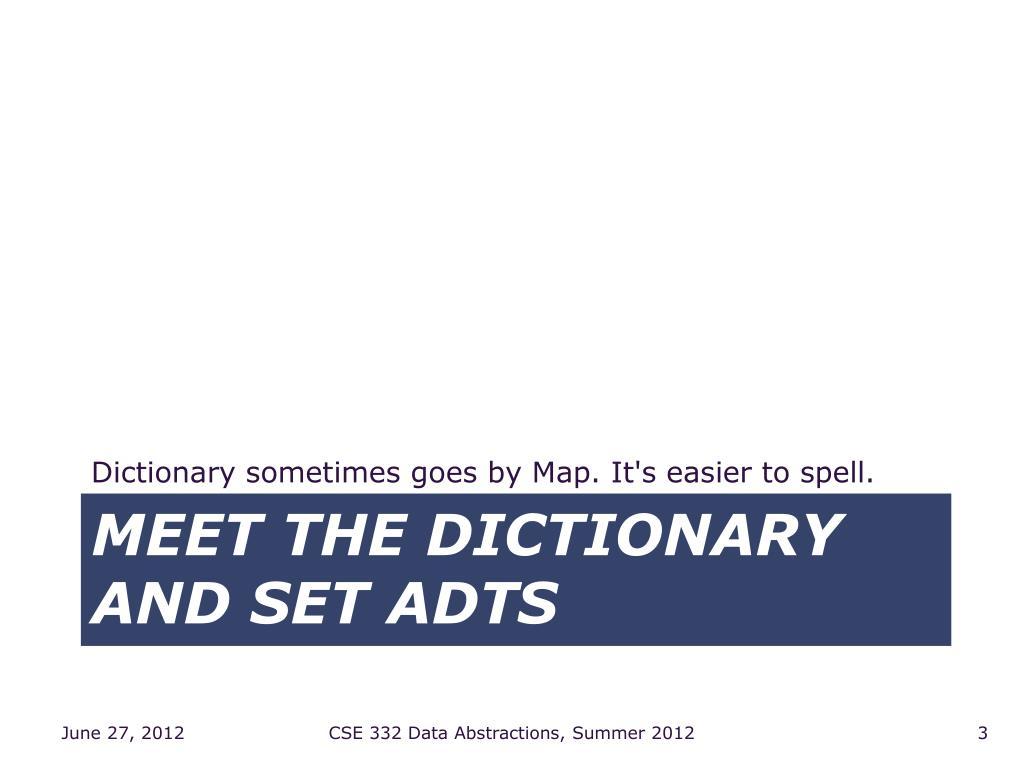 meet dictionary