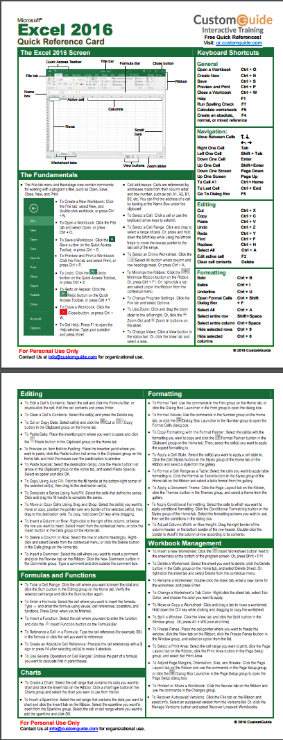microsoft excel help guide