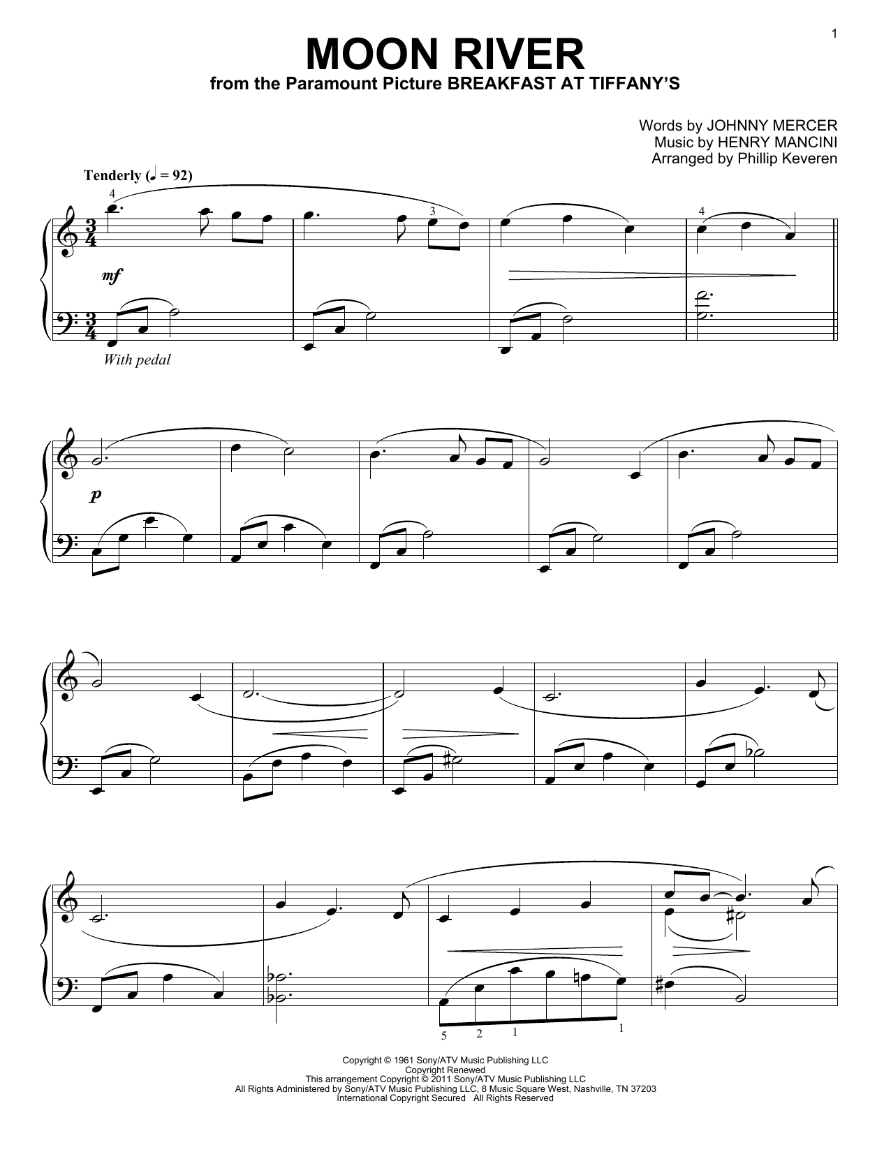 moon river advanced piano sheet music pdf