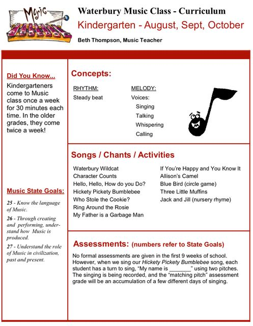 music lesson plans for kindergarten pdf