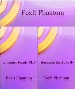 no protection bar in foxit phantom pdf