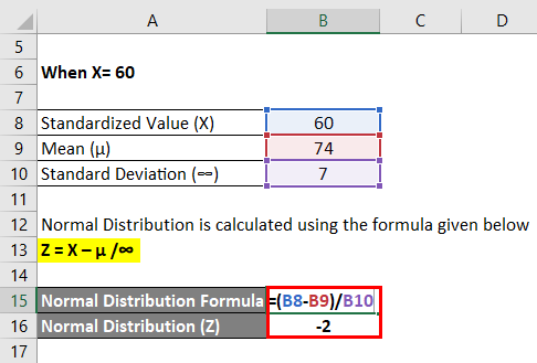 normality formula with example pdf