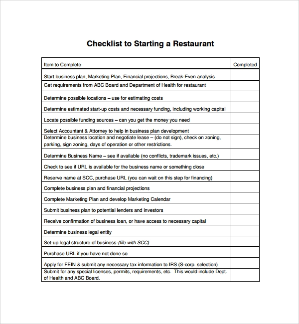 opening and closing checklist for kitchen pdf