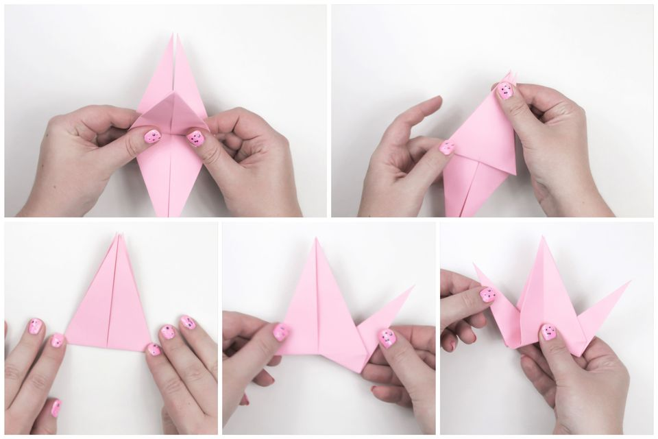 origami flapping bird instructions printable
