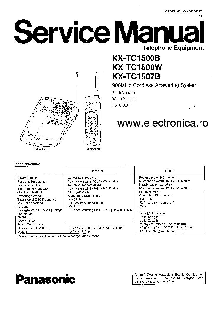 panasonic kx tg6812 manual