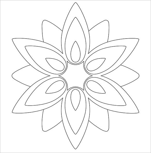 paper flower templates free pdf