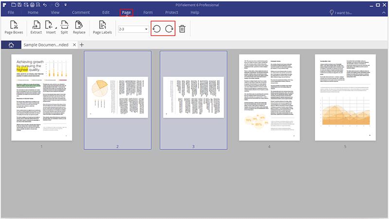 pdf rotate single page