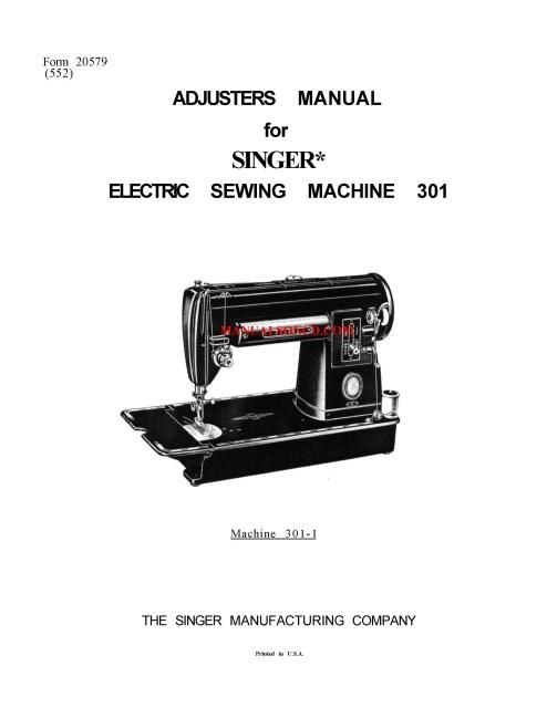 pdf singer 201k repair manual