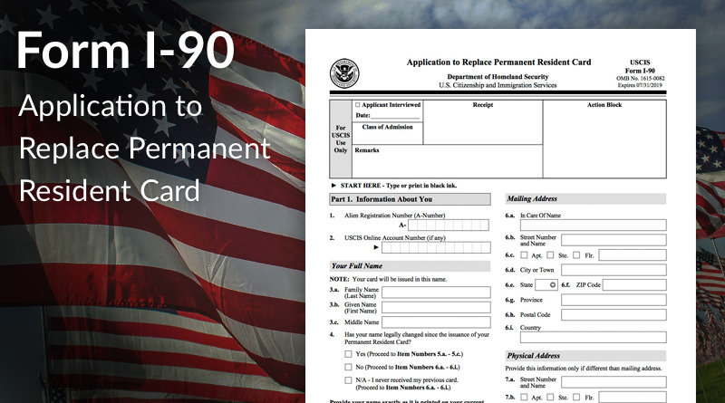 permanent residency application form 2018