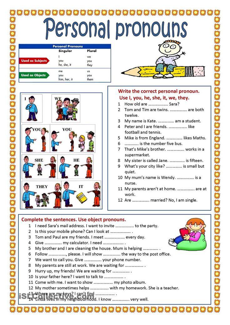 personal pronouns exercises pdf