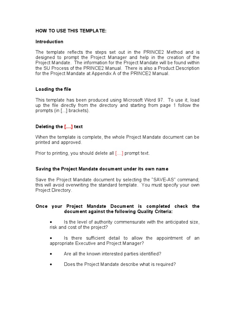 prince2 foundation training manual free download