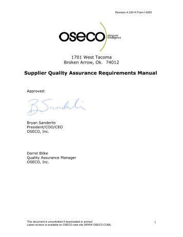 quality assurance manual pdf