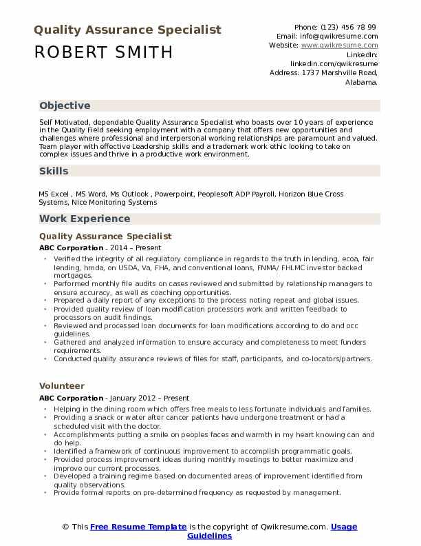 quality assurance pdf